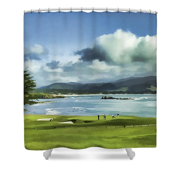 18th Hole Pebble Beach 2 Shower Curtain