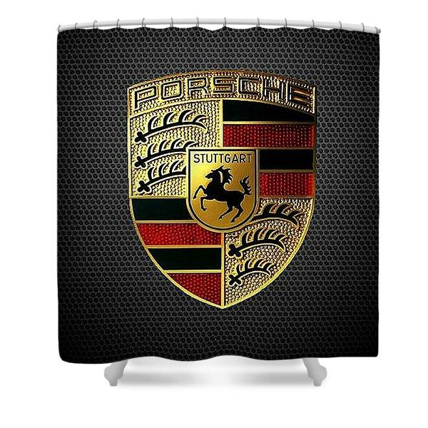 Porsche Logo Shower Curtain