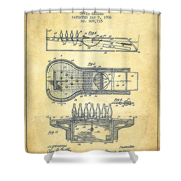 1906 Bowling Alley Patent - Vintage Shower Curtain