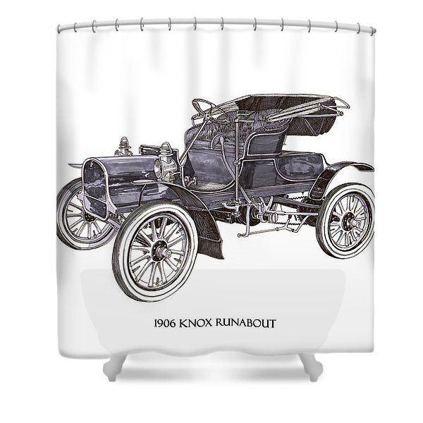 1906 Knox Model F 3 Surry Shower Curtain