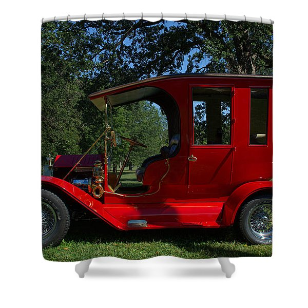1909 Ford Model T Limo Custom Hot Rod Shower Curtain