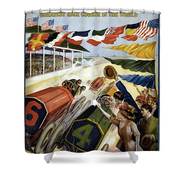 1909 Indy 500 Poster Shower Curtain