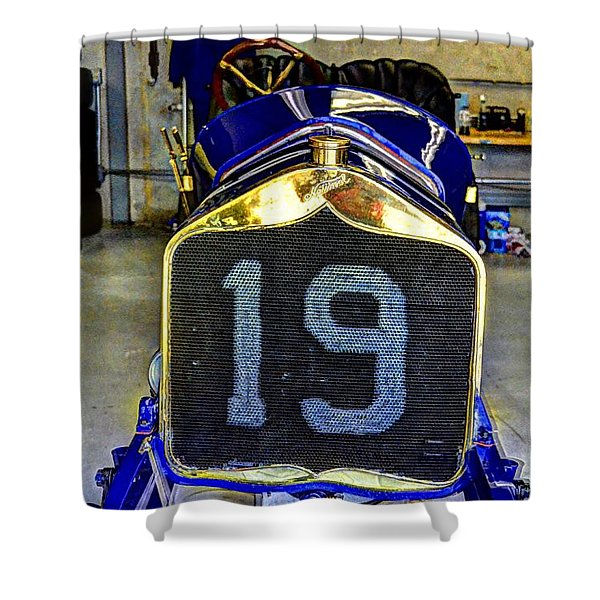 1911 National Speedway Roadster #19  Shower Curtain