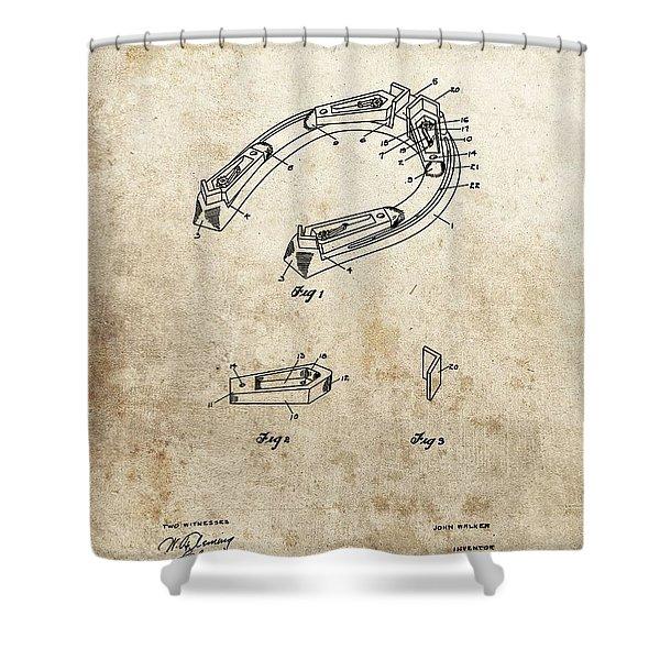 1914 Horseshoe Patent Shower Curtain