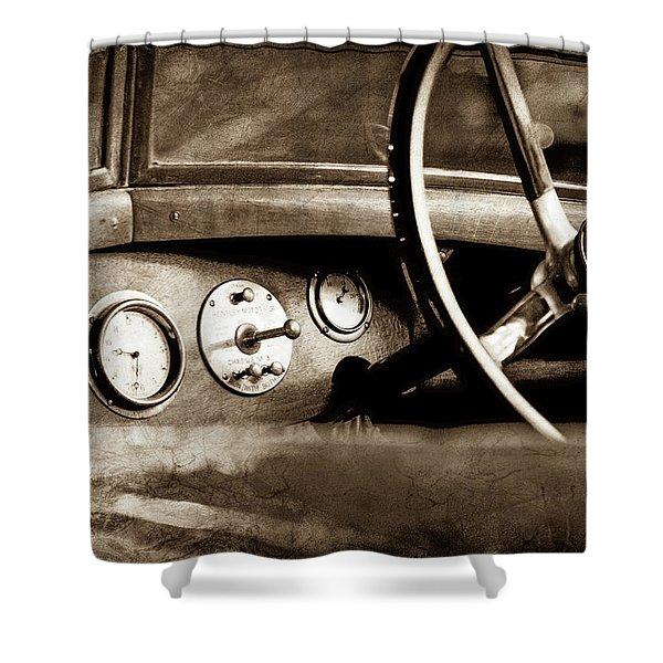1921 Bentley Steering Wheel -0454s Shower Curtain