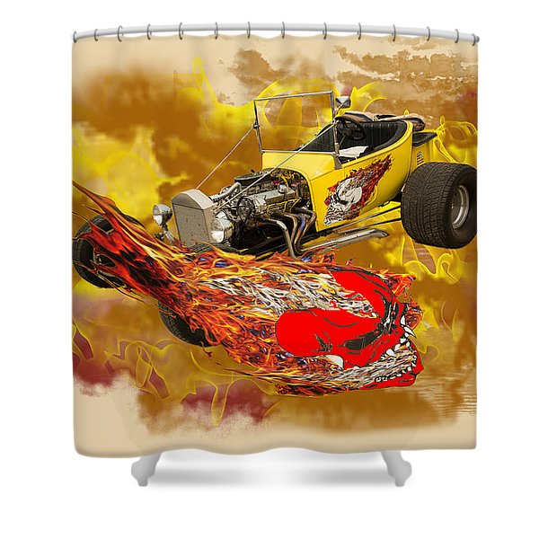 1923 Ford T-bucket Vintage Classic Car Photograph 5693.02 Shower Curtain