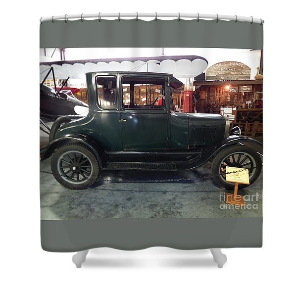 Shower Curtain featuring the photograph 1923 Model T Coupe by Charles Robinson