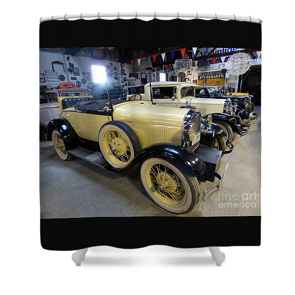 Shower Curtain featuring the photograph 1923 Studebaker by Charles Robinson