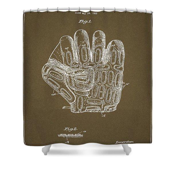 1924 Baseball Glove Shower Curtain