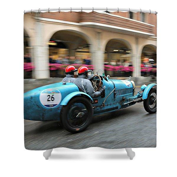 1926 Bugatti At Speed Shower Curtain