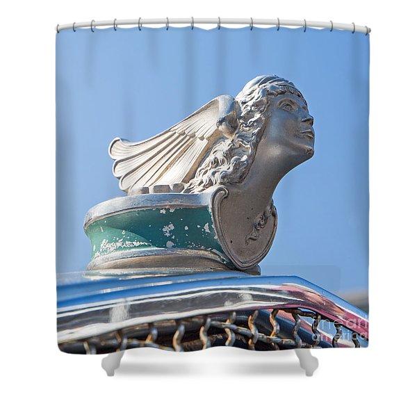 1926 Buick Hood Ornament Shower Curtain