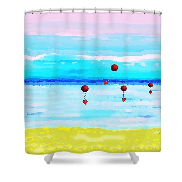 1926 -  Ocean Blue ... Shower Curtain