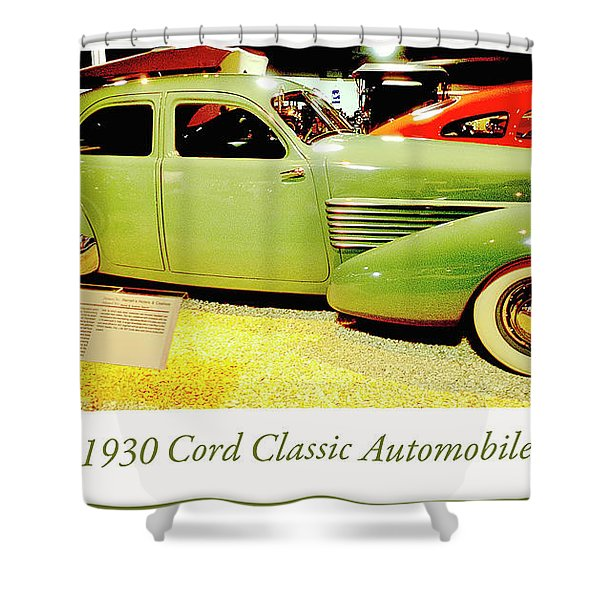 1930 Cord, Classic Automobile Shower Curtain
