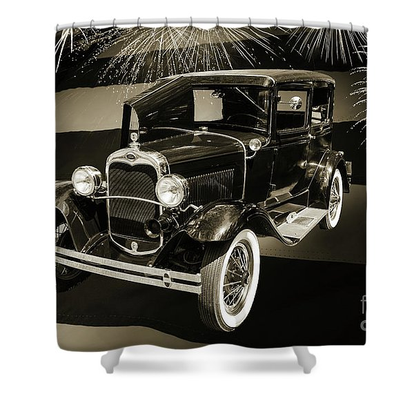 1930 Ford Model A Original Sedan 5538,16 Shower Curtain
