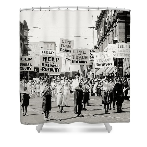 1930 Rally In Roxbury Boston Shower Curtain