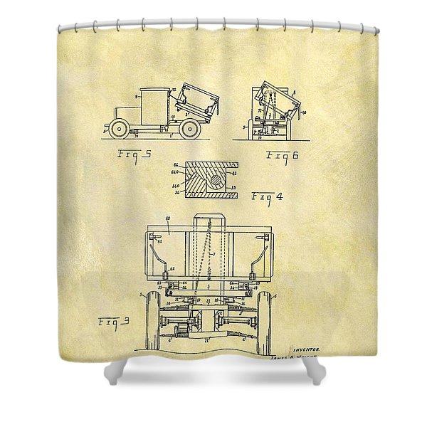 1931 Dump Truck Patent Shower Curtain