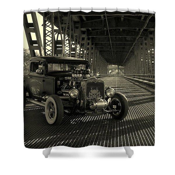 1931 Nash Coupe Rat Rod Shower Curtain