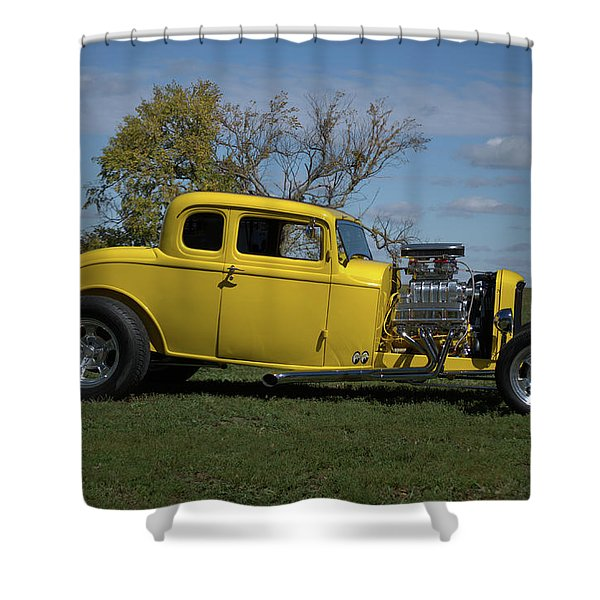 1932 Ford 5 Window Coupe Hot Rod Shower Curtain