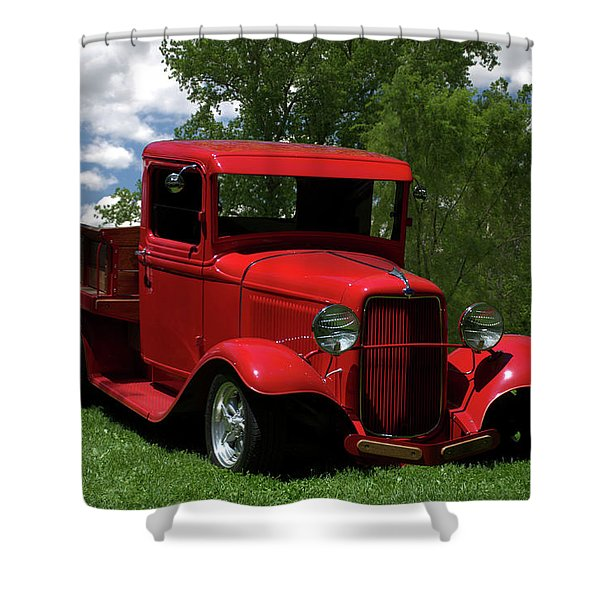 1932 Ford Flatbed Pickup Shower Curtain