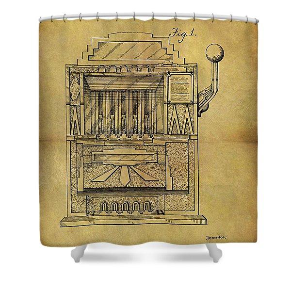 1932 Slot Machine Patent Shower Curtain