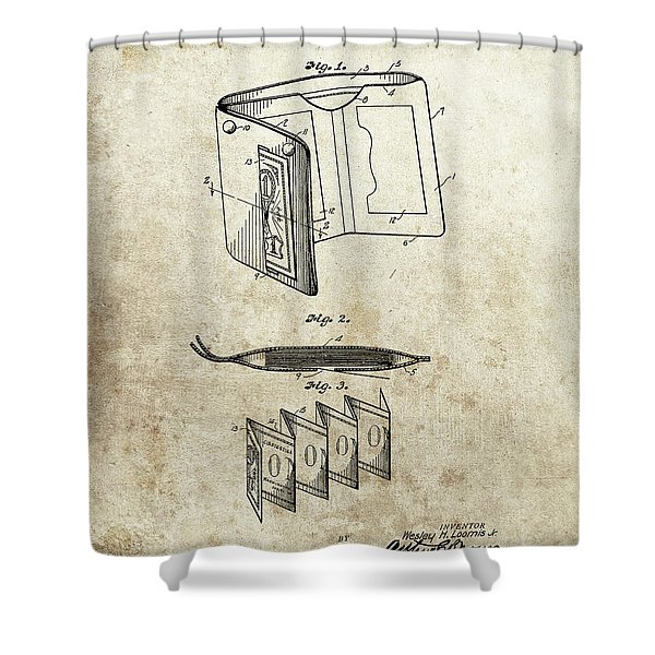 1932 Wallet Patent Shower Curtain