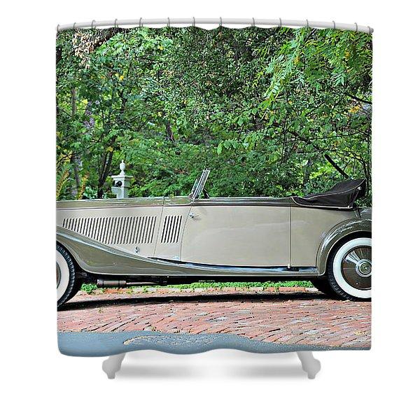 1934 Rolls Royce Kellner Shower Curtain
