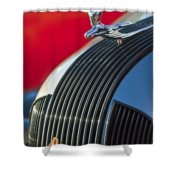 1935 Pontiac Sedan Hood Ornament Shower Curtain