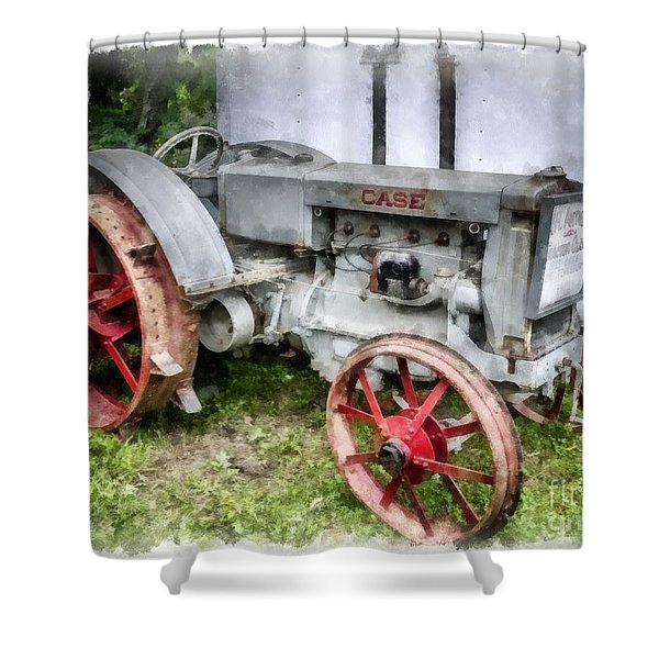 1935 Vintage Case Tractor Shower Curtain