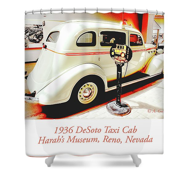 1936 Desoto Taxi Cab Shower Curtain