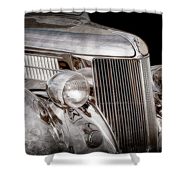 1936 Ford - Stainless Steel Body -0371ac Shower Curtain