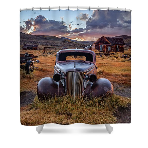 1937 Chevy At Sunset Shower Curtain
