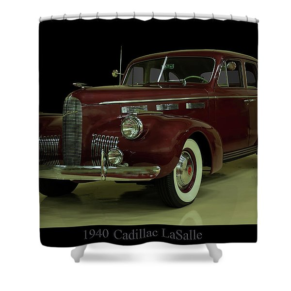 1940 Cadillac Lasalle Shower Curtain