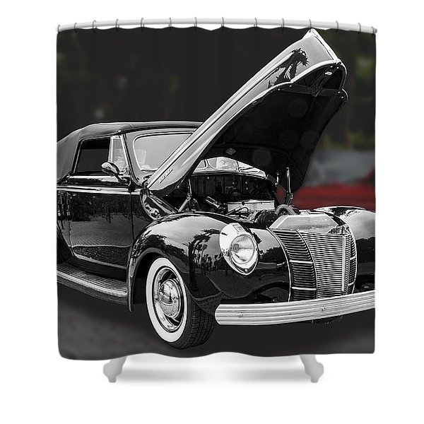 1940 Ford Deluxe Automobile Shower Curtain