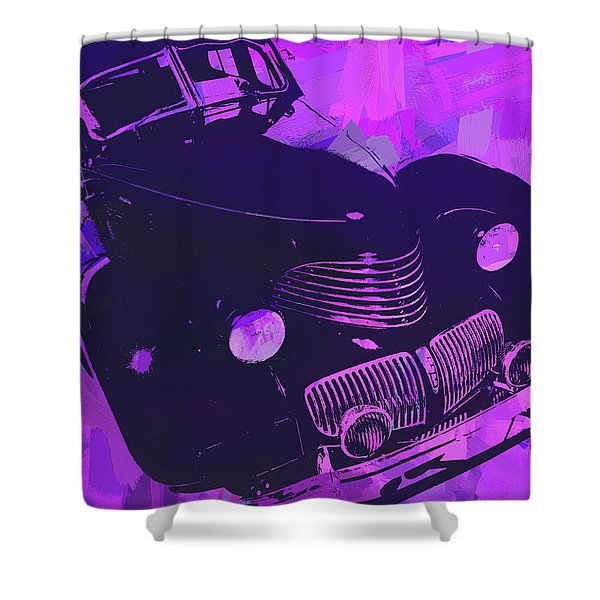 1940 Hupp Skylark Violet Pop Shower Curtain