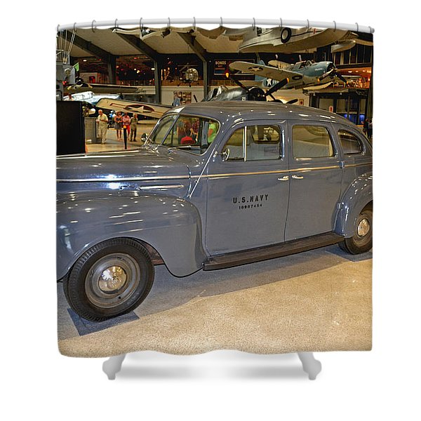 1940 Plymouth Navy Staff Car 001 Shower Curtain