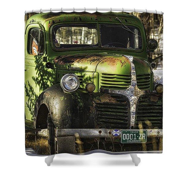 1940's Dodge  Shower Curtain