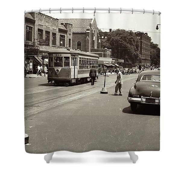 1940's Inwood Trolley Shower Curtain