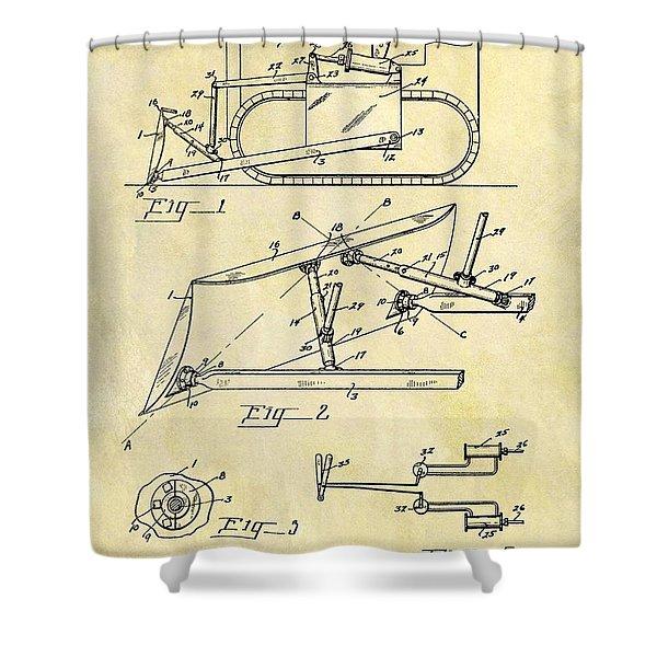 1941 Bulldozer Patent Shower Curtain