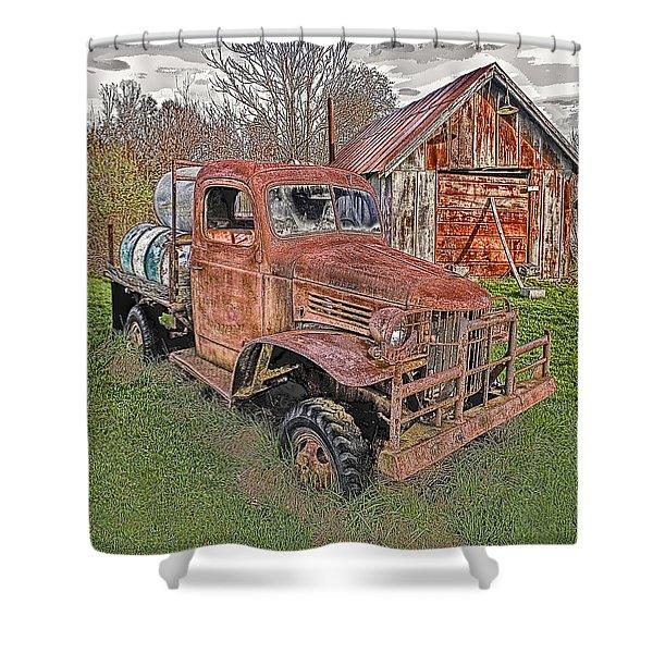 1941 Dodge Truck #2 Shower Curtain
