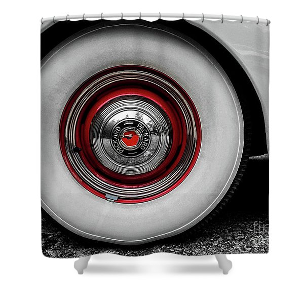 1941 Packard Convertible Wheels Shower Curtain
