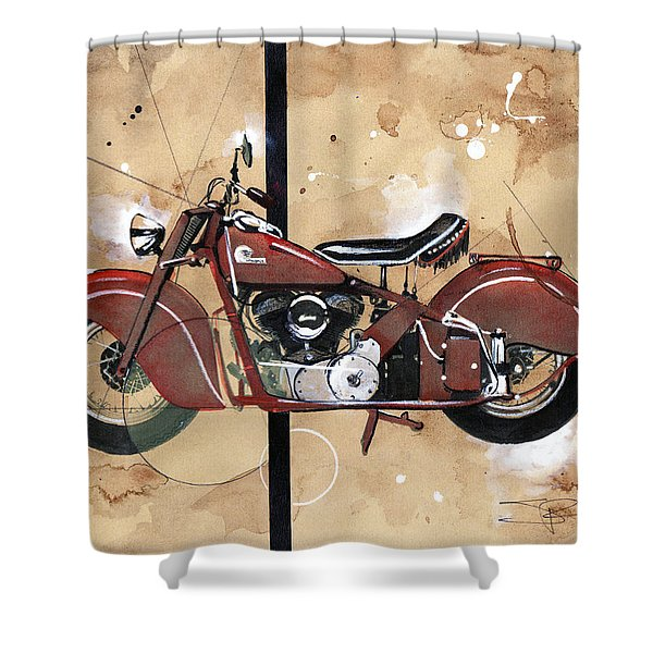 1946 Chief Shower Curtain