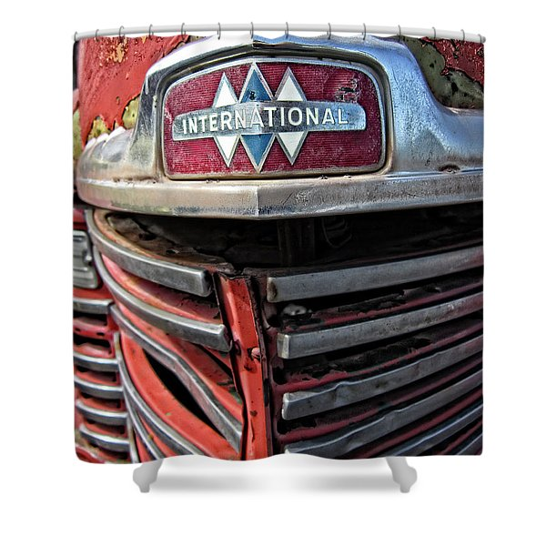 1946 International Harvester Truck Grill Shower Curtain