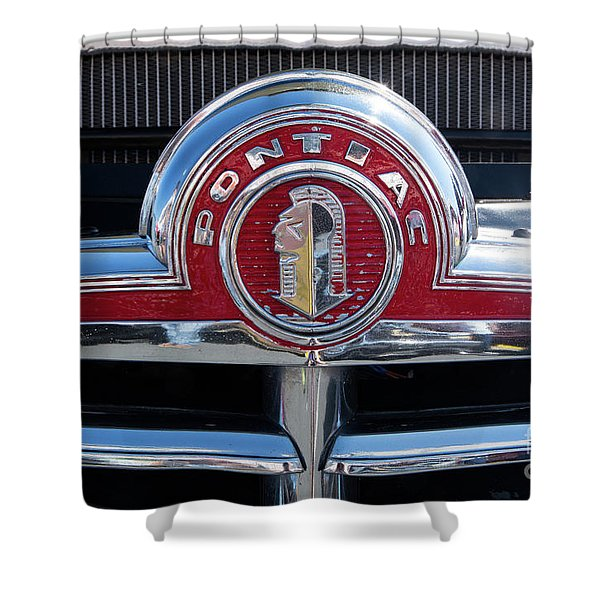 1946 Pontiac Grill Shower Curtain
