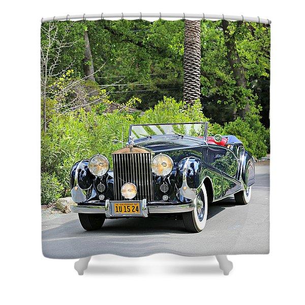 1947 Inskip Rolls Royce Shower Curtain