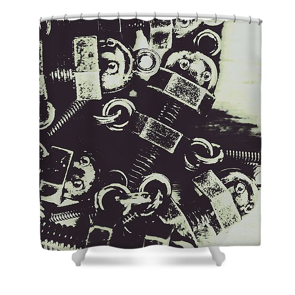 1947 Nutters Shower Curtain