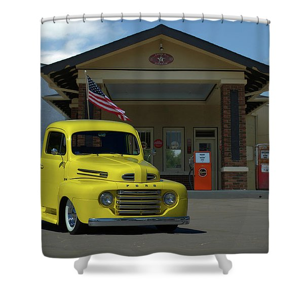 1948 Ford F1 Pickup Truck Shower Curtain