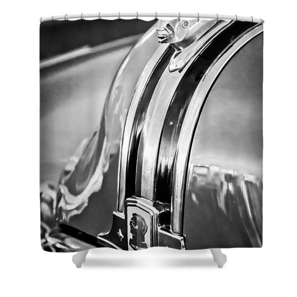 1948 Pontiac Chief Hood Ornament 4 Shower Curtain