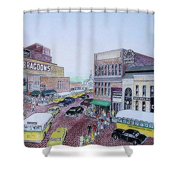 Rush Hour Portsmouth Ohio 1948 Shower Curtain