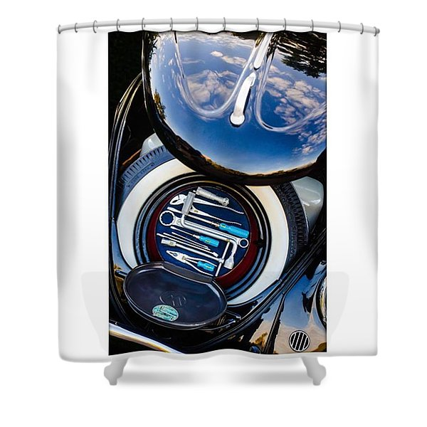 1949 Volkswagen Tool Kit Shower Curtain