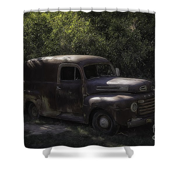 1950 Ford Panel Truck  Shower Curtain